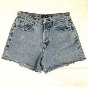 GAP vintage denim high-waisted shorts